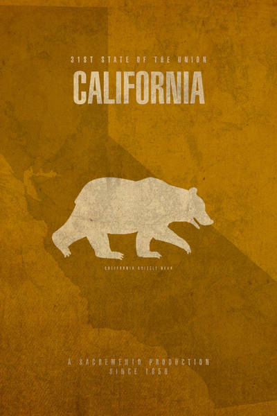 Movie Poster Mixed Media - California State Facts Minimalist Movie Poster Art  by Design Turnpike