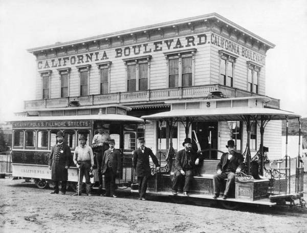 Wall Art - Photograph - California Street Cable Car by Underwood Archives