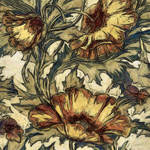 Digital Art - Californian Poppies by Charmaine Zoe