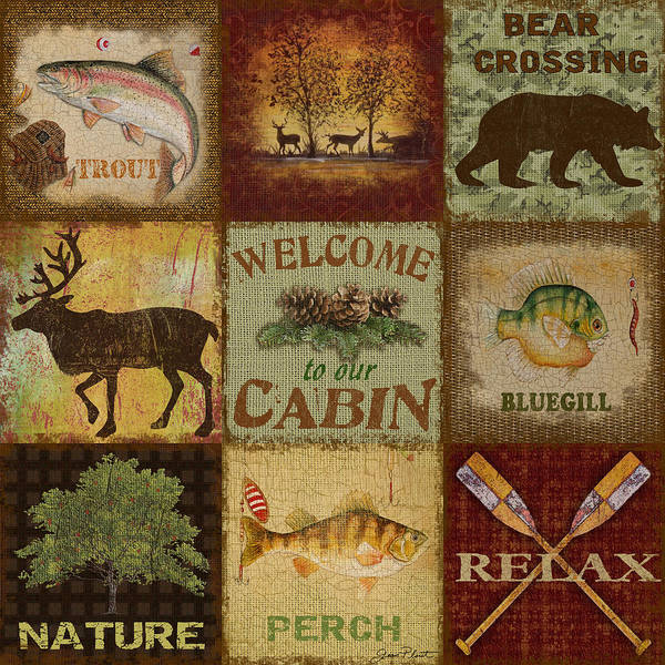 Burlap Painting - Call Of The Wilderness by Jean Plout