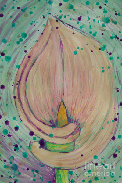 Painting - Calla Lily Dreaming by Jacqueline Athmann