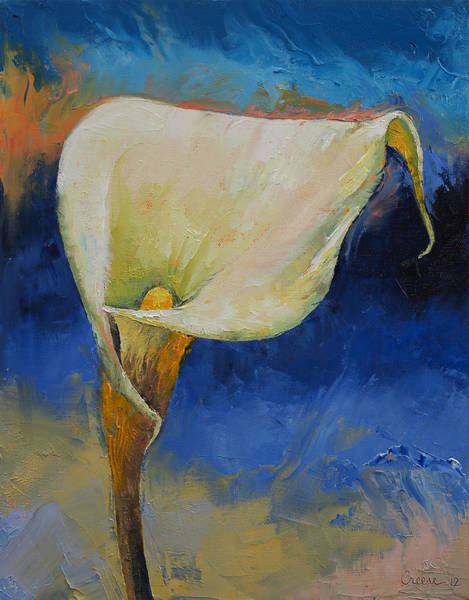 White Lily Painting - Calla Lily by Michael Creese