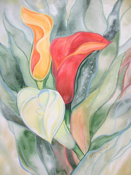 Painting - Calla Lily by Sherri Anderson