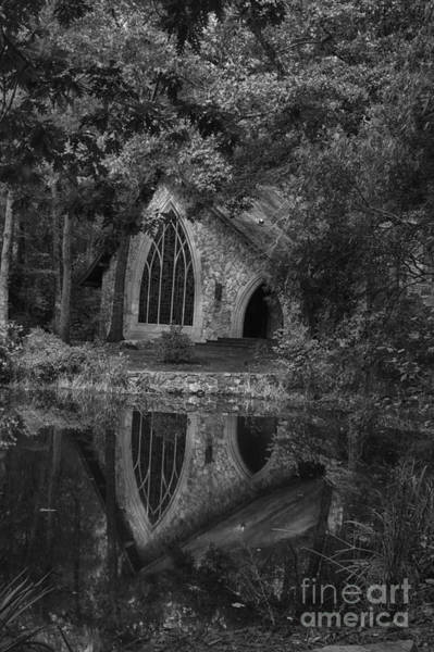Photograph - Callaway Chapel B/w by Heather Roper