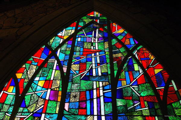 Rader Photograph - Callaway Gardens Chapel Stained Glass by Roe Rader