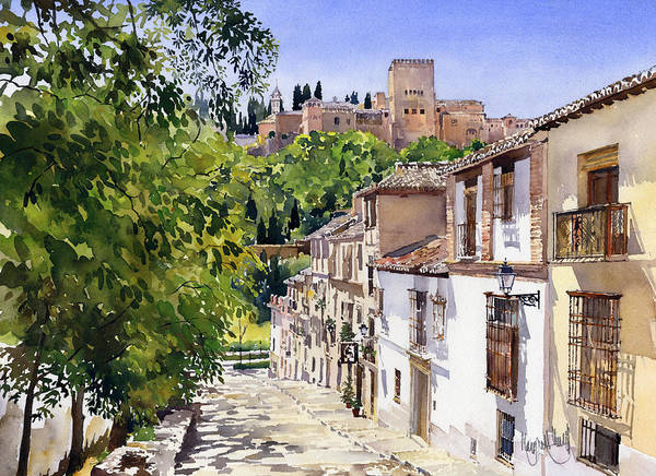 Granada Wall Art - Painting - Calle Victoria Granada by Margaret Merry