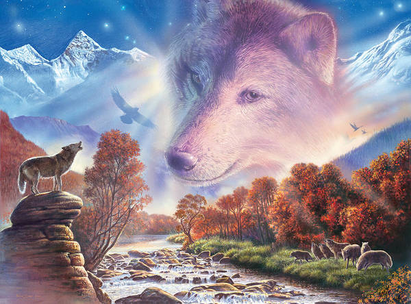 Forest Spirit Wall Art - Photograph - Calling To The Pack by MGL Meiklejohn Graphics Licensing
