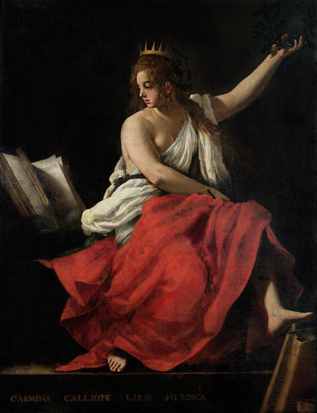 Mythological Photograph - Calliope, Muse Of Epic Poetry Oil On Canvas by Giovanni Baglione