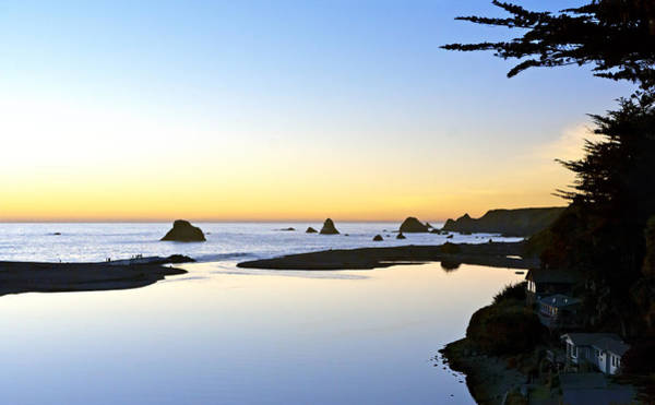 Furon Photograph - Peaceful River Meets Pacific by Daniel Furon