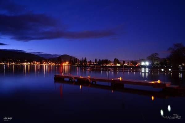 Calm Night - Skaha Lake 02-21-2014 Art Print