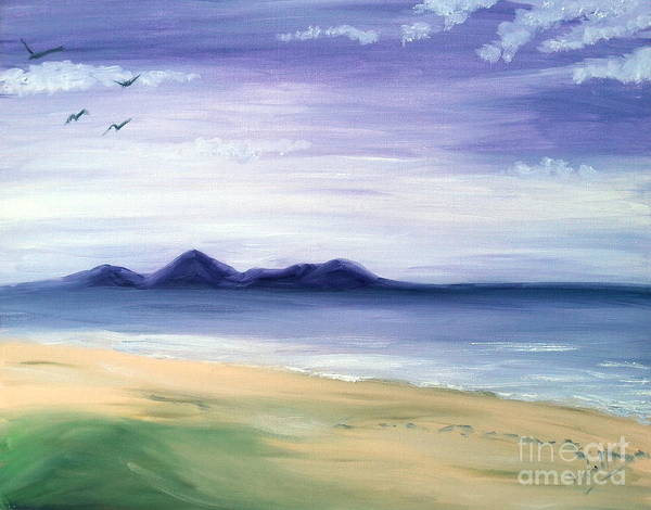 Painting - Calm Seashore by Abbie Shores