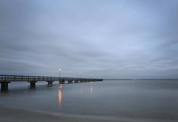 Photograph - Calm Seaside Park Pier by Terry DeLuco
