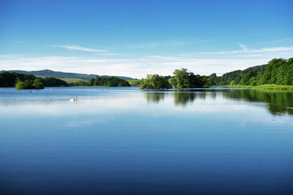 Galloway Wall Art - Photograph - Calm Water On A Scottish Loch In Early by Johnfscott