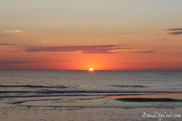 Photograph - Calm Waters Before Orange Sky by Robert Banach