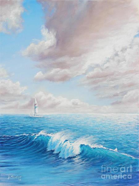 Painting - Calming Ocean by Joe Mandrick