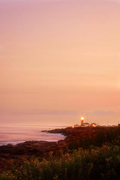 Photograph - Calming Visual- Beavertail Lighthouse Art by Lourry Legarde