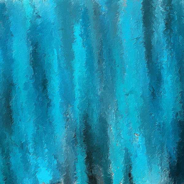 Wall Art - Painting - Calming Visuals-turquoise Art by Lourry Legarde