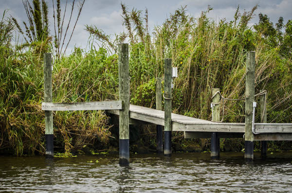 Photograph - Caloosahatchee River Dock by Carolyn Marshall