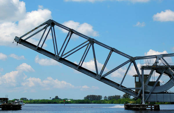 Photograph - Caloosahatchee Train Draw Bridge by Carolyn Marshall