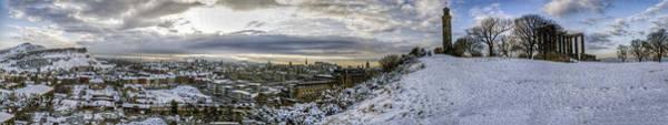 Calton Hill Panorama Art Print