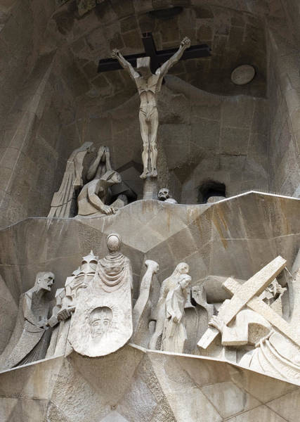 Photograph - Calvary At The Sagrada Familia by Lorraine Devon Wilke