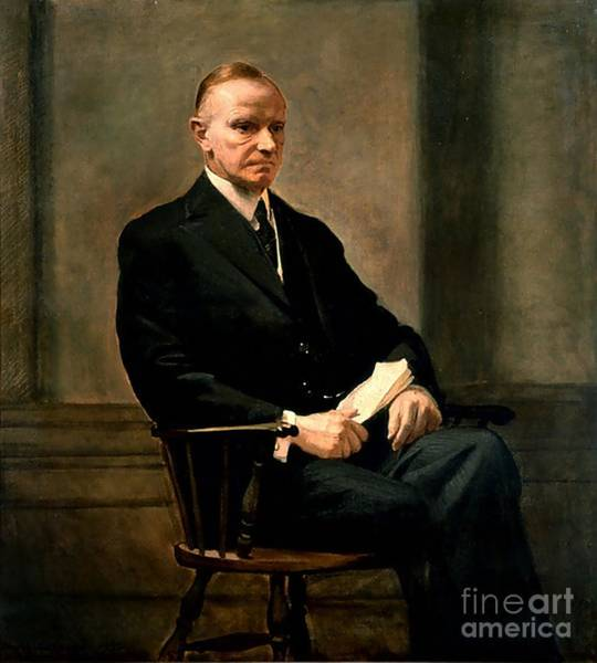 Coolidge Painting - Calvin Coolidge by Charles Syndey