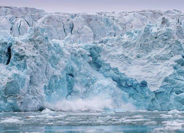 Ice Floe Photograph - Calving Glacier by Mikeojohnson  Photography - Mojphopto.com