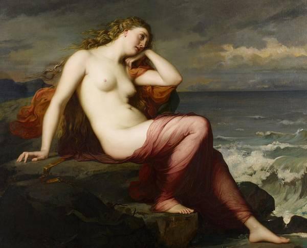 Nudity Painting - Calypso by Karl Ernest Rudolf Heinrich Salem