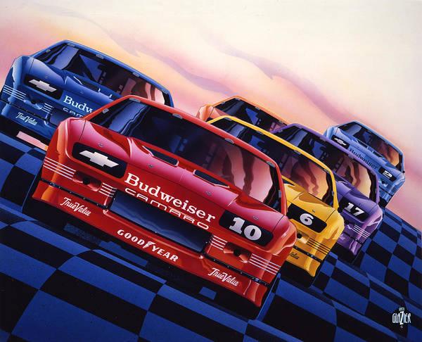 Wall Art - Painting - Camaro 1990 Iroc Poster Art by Garth Glazier