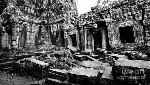 Photograph - Cambodian Ruin At Ta Prohm by Julian Cook