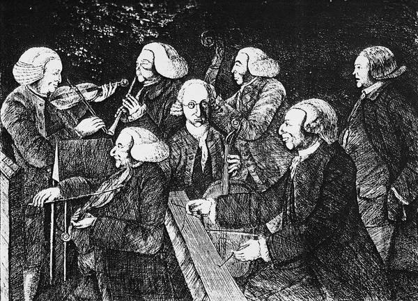 Cellist Painting - Cambridge Concert, 1767 by Granger