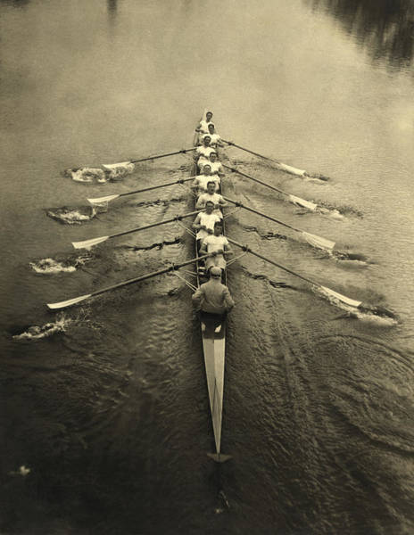 Exertion Wall Art - Photograph - Cambridge Crewmen by Underwood Archives