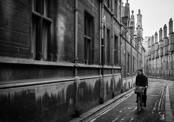 Wall Art - Photograph - Cambridge Cyclist by Neil Buchan-Grant