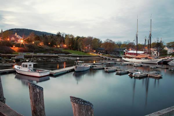 Camden Photograph - Camden Harbor, Maine At Twighlight by Chris Bennett