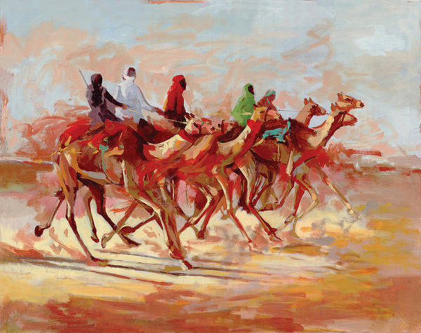 Painting - Camel Race by Art Tantra