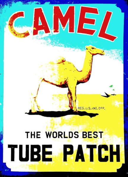 Wall Art - Digital Art - Camel Tire Repair by Charles Rogers