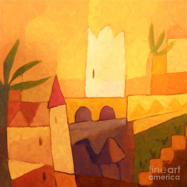 Painting - Camel Town by Lutz Baar