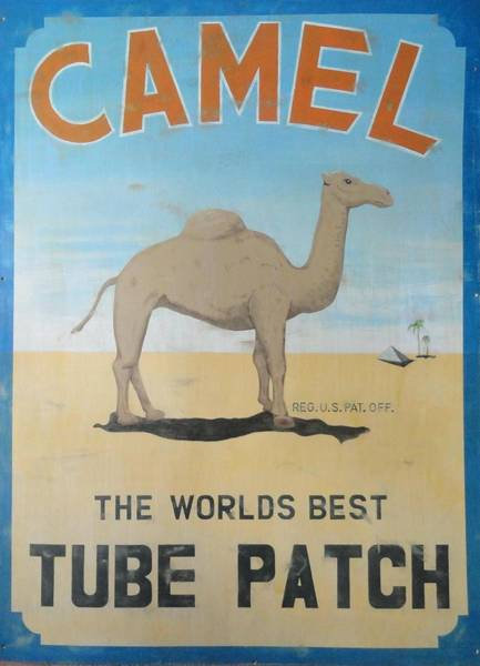 Wall Art - Painting - Camel Tube Patch Sign by Charles Rogers