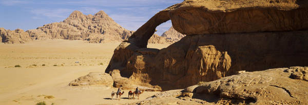 Wall Art - Photograph - Camels At The Eye Of The Eagle Arch by Panoramic Images