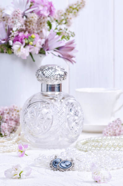 Perfume Photograph - Cameo Earrings by Amanda Elwell