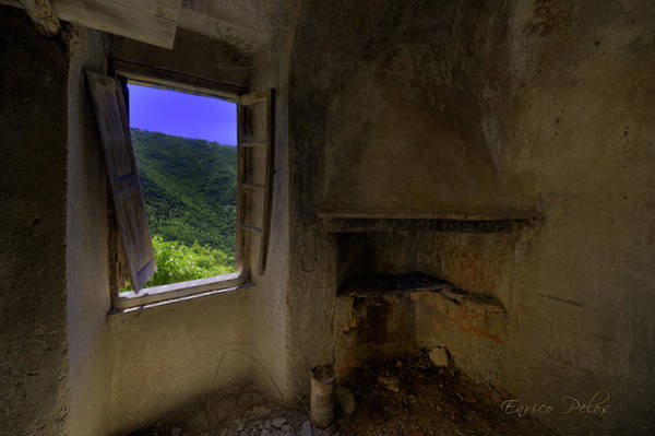 Photograph - Camera Con Vista A Room With A View  At Balestrino The Ghost Town by Enrico Pelos