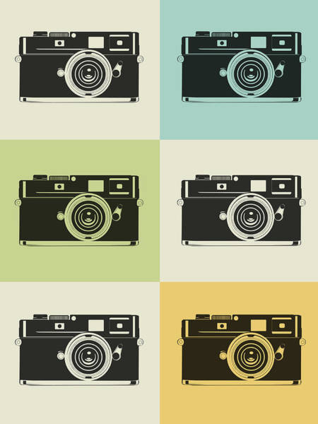 Amusing Wall Art - Digital Art - Camera Grid Poster by Naxart Studio