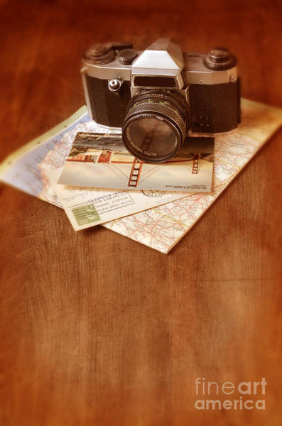 Road Map Photograph - Camera Map And Postcards by Jill Battaglia