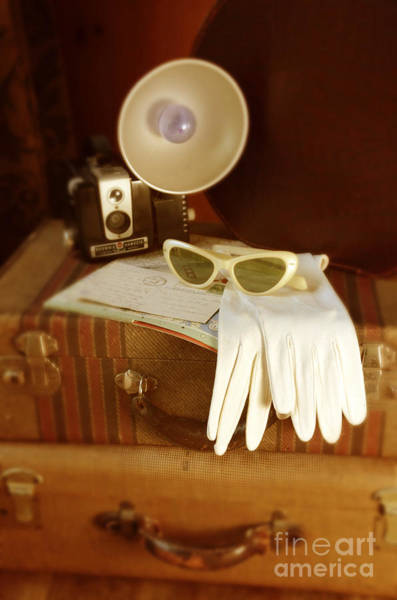 Road Map Photograph - Camera Sunglasses On Luggage by Jill Battaglia