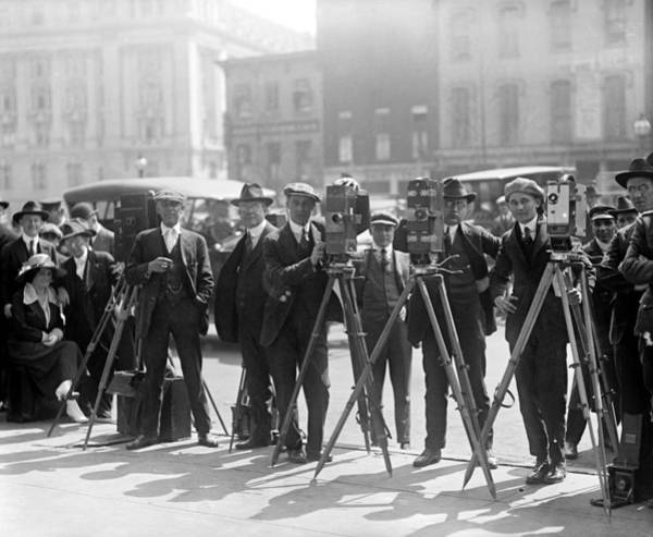 Photograph - Cameramen, C1920 by Granger