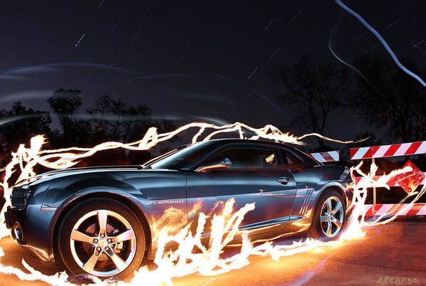 Wall Art - Photograph - Camero Rs Fire by Andrew Nourse