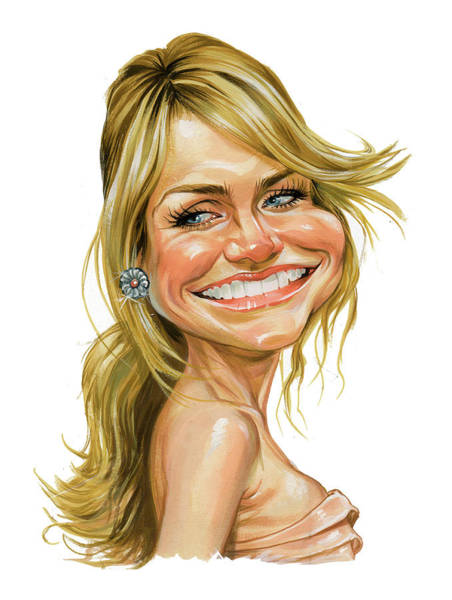 Wall Art - Painting - Cameron Diaz by Art