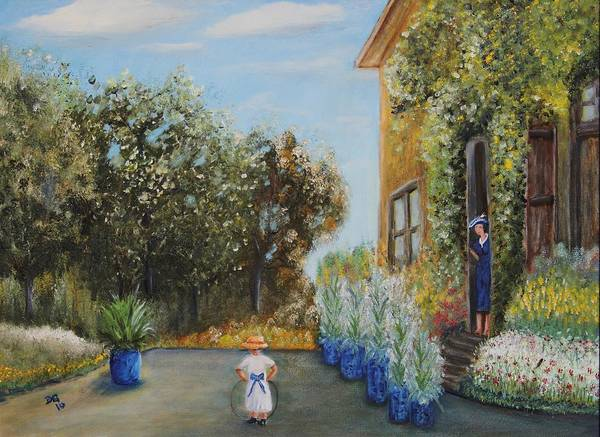 Camille And Jean Monet Art Print