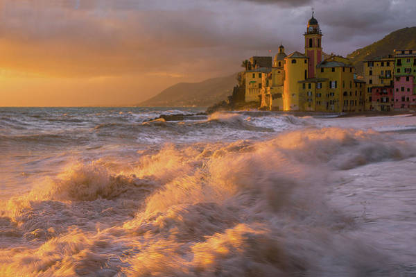 Old Church Photograph - Camogli by Alessandro Traverso
