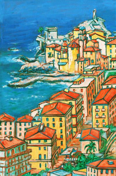 Levante Wall Art - Painting - Camogli - Italian Riviera by Xueling Zou
